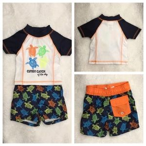 NWOT swim set with turtles 🐢